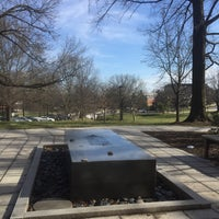 Photo taken at Garden of Reflection and Remembrance - University of Maryland by Andrea H. on 3/7/2016