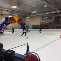 Photo taken at Edge Ice Arena by Leigha K. on 1/18/2014