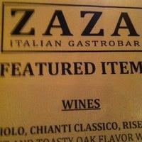 Photo taken at ZAZA Italian Gastrobar & Pizzeria by Jason E. on 3/24/2013