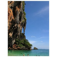 Photo taken at Railay Beach West by Esjayphee a. on 7/27/2013