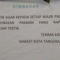 Photo taken at Kantor Samsat Kota Tangerang by Irwan N. on 12/20/2012