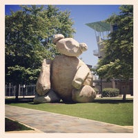 Photo taken at Bear Statue by Christian M. on 5/29/2013