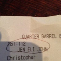 Photo taken at Quarter Barrel Brewery by Jen W. on 4/24/2013
