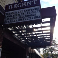 Photo taken at Regent Theater by J B. on 10/13/2013
