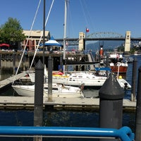 Photo taken at Aquabus Granville Island Dock by Guy C. on 7/25/2013