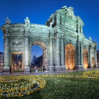 Photo taken at Alcalá Gate by Marcio V. on 5/14/2013