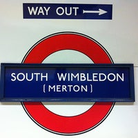 Photo taken at South Wimbledon London Underground Station by Sarah O. on 2/9/2013