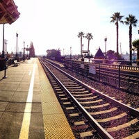 Photo taken at San Carlos Caltrain Station by Sean B. on 1/22/2013