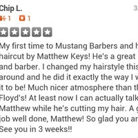 Photo taken at Mustang Barbers by Matthew K. on 3/13/2014