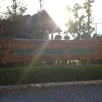 Photo taken at Verde Montana Restaurant by ratsarin s. on 5/12/2013