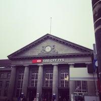 Photo taken at Bahnhof Biel / Gare de Bienne by Andreas R. on 11/18/2013
