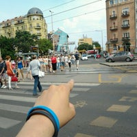 Photo taken at Széna tér by Remus S. on 6/24/2013
