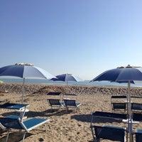 Photo taken at Attilio Beach Pleasure Club by Pier Luca S. on 4/14/2013