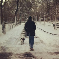 Photo taken at Marcus Garvey Park - Dog Run by Ana G. on 2/9/2013