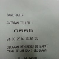 Photo taken at Bank Jatim by Isaac I. on 3/24/2014