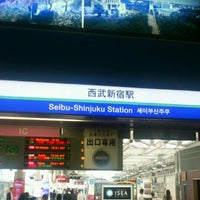 Photo taken at Seibu-Shinjuku Station (SS01) by Masakazu M. on 6/21/2013