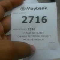 Photo taken at Maybank by Amir F. on 2/15/2016