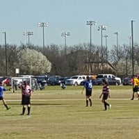 Photo taken at Corinth Soccer Fields by Erica M. on 3/5/2016