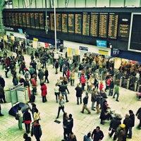 Photo taken at London Waterloo Railway Station (WAT) by Louie C. on 4/28/2013