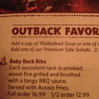 Photo taken at Outback Steakhouse by Dirk W. on 10/2/2012