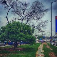 Photo taken at Delhi Aerocity Metro Station by Nakul K. on 7/16/2016