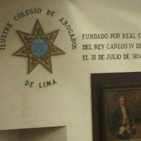 Photo taken at Colegio de Abogados de Lima by Anai V. on 1/22/2016
