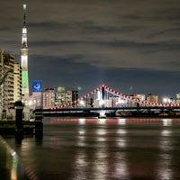 Photo taken at 隅田川テラス 日本IBM本社事業所前 by Hikaru M. on 11/28/2016