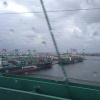 Photo taken at Vincent Thomas Bridge by Karhim R. on 10/9/2013