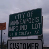 Photo taken at City of Minneapolis Impound Lot by Ryan on 10/29/2012