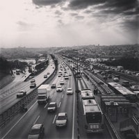 Photo taken at Halıcıoğlu Metrobüs Durağı by Deniz K. on 12/19/2013