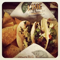 Photo taken at Lime Fresh Mexican Grill by David J. on 12/28/2012