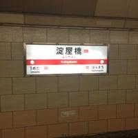 Photo taken at Midosuji Line Yodoyabashi Station (M17) by muragin1029 on 12/15/2012