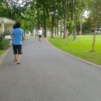 Photo taken at Chaaloem Phrakiat Park by ワルンユパ- ビ. on 6/20/2014