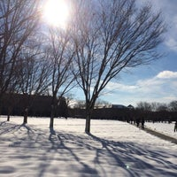 Photo taken at URI Quad by Laura S. on 2/6/2014