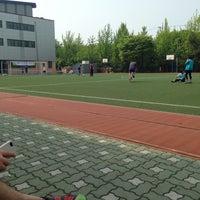 Photo taken at 청담중학교 by Michael J. on 5/12/2013