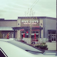 Photo taken at Five Guys by Allie A. on 4/29/2013