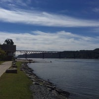 Photo taken at Marist Boathouse by Dillon O. on 9/27/2015