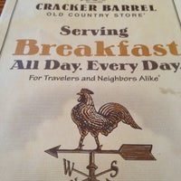 Photo taken at Cracker Barrel Old Country Store by Timothy H. on 3/1/2013