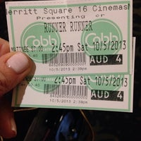 Photo taken at Cobb Merritt Square 16 Theatre & IMAX by K on 10/5/2013