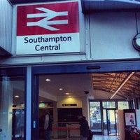 Photo taken at Southampton Central Railway Station (SOU) by Víctor Manuel M. on 12/16/2012