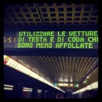 Photo taken at Metro Porta Romana (M3) by Michele F. on 1/18/2013