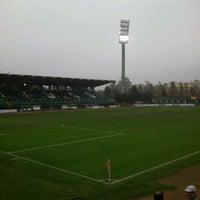 Photo taken at Rohonci úti stadion by Toke Gabor on 10/27/2012