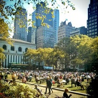 Photo taken at Bryant Park by Dante D. on 10/1/2013