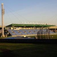 Photo taken at Icahn Stadium by Dante D. on 4/9/2013