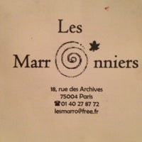 Photo taken at Les Marronniers by Isaac C. on 12/29/2012