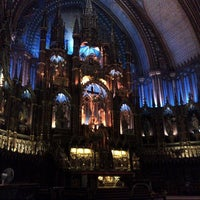 Photo taken at Notre-Dame Basilica of Montréal by Robin F. on 10/1/2012