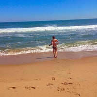 Photo taken at 81st Street Beach by E. Bunny on 9/27/2014