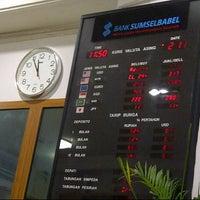 Photo taken at Bank Sumsel Babel Cabang Pangkalpinang by Handra T. on 12/11/2012