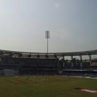 Photo taken at Wankhede Stadium by Kaushal P. on 11/24/2012