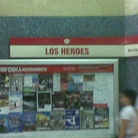 Photo taken at Metro Los Héroes by J W. on 3/5/2013